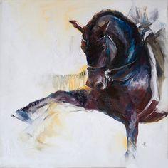 Horse Dressage Spanish Step Original Oil Painting