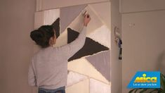Create a beautiful geometric feature wall in your home with this project from Mica! #MakeitwithMica #LetUsShowYouHow