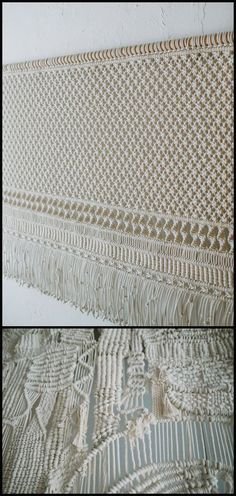 Sally England's Macrame textile art                                                                                                                                                                                 More