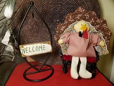 Items similar to Small Quilted Turkey Decor on Etsy Raggedy Ann And Andy, Small Quilts, Table Centerpieces, Vintage Patterns, To My Daughter, My Etsy Shop, Turkey, Bows, Check