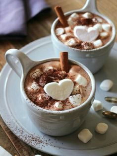 Perfect cup of hot chocolatemilk to drink on a cold winter eve