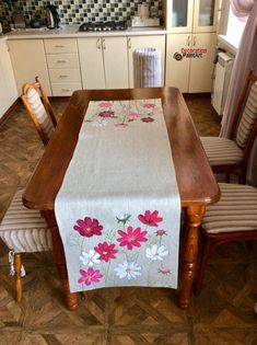 Hand-painted Cosmos Table Runner Rustic Cloth Decoration Holiday Decorations Centerpiece Art painting Burlap Linen Flowers mother's day gift Painting Burlap, Fabric Painting, Cosmos, Sheet Curtains, Burlap Table Runners, Mothers Day Flowers, Rustic Table, Table Linens, Printing On Fabric