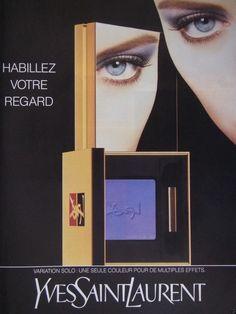 PUBLICITÉ 1992 YVES SAINT LAURENT HABILLEZ VOTRE REGARD