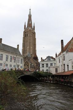 The impressive Church of Our lady in Bruges dates back to the second half of the 13th century. Reaching a height of 122 m, the church is the second highest in Belgium and has the second highest brick tower in the world.
