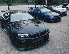 Lineup Nissan Gtr R34, R34 Gtr, Tuner Cars, Jdm Cars, My Dream Car, Dream Cars, Car Jokes, Nissan Gtr Skyline, Japan Cars