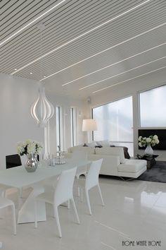 Home White Home: Ylellinen Lakka Lakeus Seinäjoen Asuntomessuilla Decor, Living Room, Furniture, Room, Interior, Interior Lighting, Dining Table, Table, Home Decor
