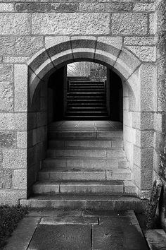 Castle Drogo: Steps from the Chapel and Gun Room - E.L. Lutyens