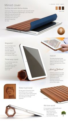 Miniot – wooden cover for iPad | Made in Holland // €60 - €80
