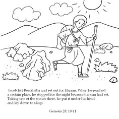 Coloring Pages On The Stories Of Jacob And Esau In Book Genesis