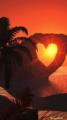 Beautiful Sunset, Beautiful Places, Beautiful Pictures, Beautiful Gif, Beautiful Heart Images, Heart Pictures, Animiertes Gif, Animated Gif, Heart In Nature