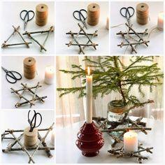 I hagen ved skauen: Blir du med å lage stjerner? #christmas #christmasdiy #decorations #julepynt