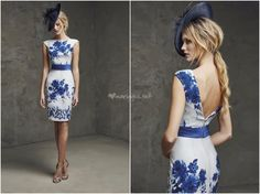 10 robes bleues pour des invitées au look électrique