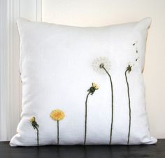 31 Trendy Ideas For Sewing Inspiration Projects Pillow Covers Sewing Pillows, Diy Pillows, Decorative Pillows, Cushions, Throw Pillows, Embroidery Patterns, Hand Embroidery, Cushion Embroidery, Sewing Stitches
