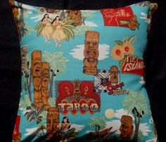 tiki pillow- would look great on the love sac