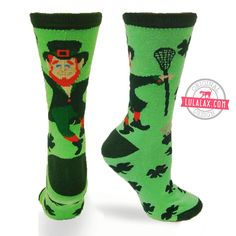 Feel lucky as a laxing leprechaun in these socks!