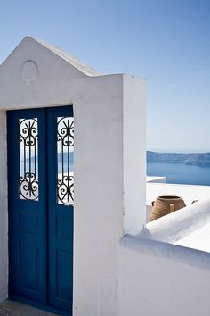 The Blue Door, Santorini, Greece