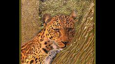 DIY_mixed media on canvas_leopard