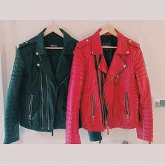 """Oil Black & Pop Red #bodaskins #luxury #leather"""