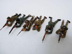 SIX Soldats EN Composition Durso Militaire Jouet Militaria | eBay