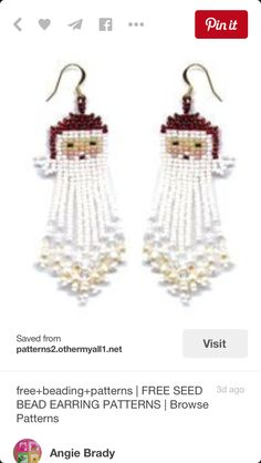 Snowman earrings.