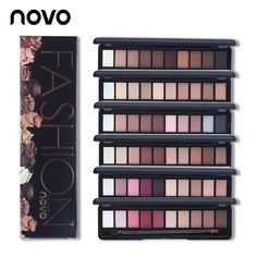Novo 10 colores shimmer mate natural fashion eye shadow maquillaje Up Light Conjunto Con El Cepillo de Ojos Paleta de Maquillaje de Sombra de Ojos Cosméticos 1 UNID