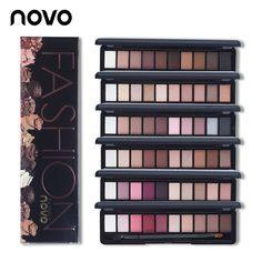 Novo 10 colores shimmer mate natural fashion eye shadow maquillaje Up Light Conjunto Con El Cepillo de Ojos Paleta de Maquillaje de Sombra de Ojos Cosméticos 1 UNID