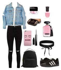 """Untitled #34"" by elisa247 on Polyvore featuring Boohoo, Sans Souci, MANGO, adidas, Givenchy, Victoria's Secret and Deborah Lippmann"