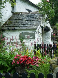 cottage and flowers, charming