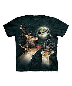 Look what I found on #zulily! Green Three Reindeer Moon Tee - Toddler & Kids by The Mountain #zulilyfinds