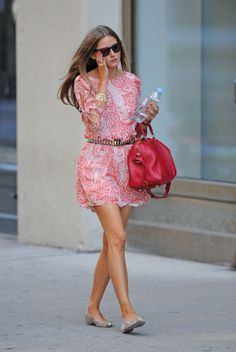 Love this breezy red look on Olivia Palermo (the dress is available right now!)