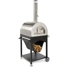 Outdoor Pizza Ovens : BBQGuys Wood Fired Oven, Wood Fired Pizza, Gas And Charcoal Grill, Outdoor Kitchen Design, Outdoor Kitchens, Four A Pizza, Pizza Oven Outdoor, Stainless Steel Grill, Baking Stone