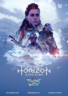 Twitter Video Game Posters, Video Game Art, Dc Comics Games, Horizon Zero Dawn Wallpaper, Game Zero, Horizon Zero Dawn Aloy, Animal Tattoos, Post Apocalyptic, Skyrim