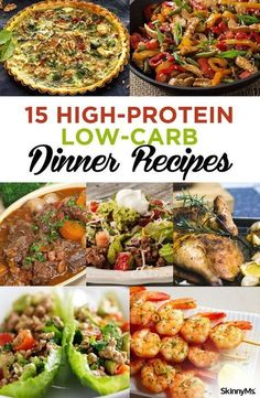 These 15 High-Protein Low-Carb Dinner Recipes are perfect for any day of the week Have you tried them yet lowcarb highprotein dinnerrecipes mealplanning freezermeals menuplanning healthyrecipes mealplanningideas recipesforweightloss topratedre Low Carb High Protein, Low Carb Meal, High Protein Dinner, Low Carb Dinner Recipes, Healthy Recipes, Diet Recipes, Vegetarian Recipes, Diabetic Recipes For Dinner, Smoothie Recipes
