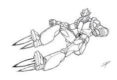 "Tempesta spaziale from ""Astrorobot contatto Ypsilon"" (Burokk-a Gundan IV Mashīn Burasutā - Il IV Battaglione Blocker Machine Blasters pin - up ( © Nippon Animation 1976) #ruggine"