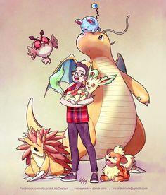 "4,515 Me gusta, 31 comentarios - Ricardo Lira (@rickslira) en Instagram: ""Lucas Feijão and his Pokémon team. Order for the trainer @lucas_feijao 》The waiting list for 2017…"""