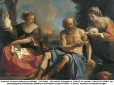 Guercino, 'Lot and his Daughters', c.1650. I always find Guercino's paintings quietly beautiful,.