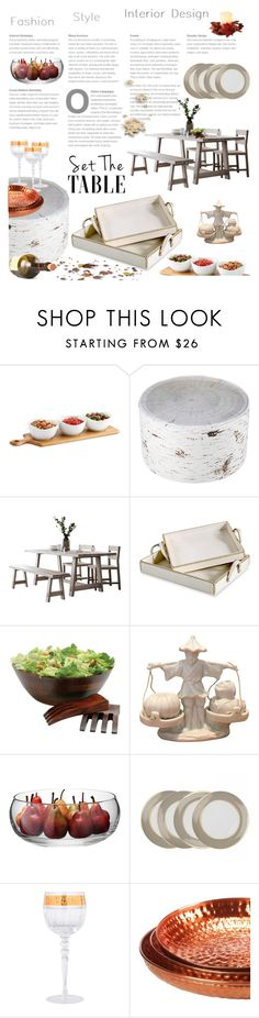 """""""482"""" by say-on-a-ra ❤ liked on Polyvore featuring interior, interiors, interior design, home, home decor, interior decorating, Lipper, LSA International, Rosenthal and Pols Potten"""
