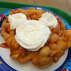 Churro Funnel Cake at The Hungry Bear Restaurant, Critter Country, Disneyland