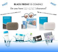 Black Friday SEACRET Skincare Sale!  http://www.seacretdirect.com/cindyhowes or on facebook Seacrets by Sindelu