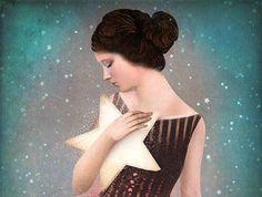 ragazza abbraccia stella