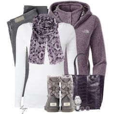 Black Friday Outfit by lagu on Polyvore featuring White Stuff, The North Face, AG Adriano Goldschmied, UGG Australia, Zagliani, David Yurman, Ila&I and BeckSöndergaard
