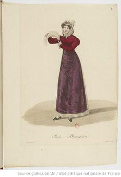 Plumassière from Georges-Jacques Gatine, Costumes d'ouvrières parisiennes, 1824, BNF Paris
