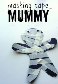 Try making this masking tape mummy! (19 hauntingly fun Halloween crafts for kids)