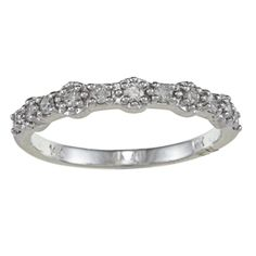Victoria Kay 14k Gold 1/4ct TDW Diamond Stackable Band