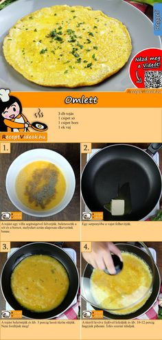 Our omelet recipe with video is super simple, tastes delicious and is the ideal breakfast recipe. You can easily find the omelet recipe video using the QR code :] # Breakfast # Breakfast recipes Food Blogs, Food Videos, Healthy Fried Chicken, Fast Food Diet, Chicken Sandwich Recipes, Egg Dish, Brunch, Cheesecake, Healthy Crockpot Recipes