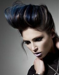 punk hairstyle and color