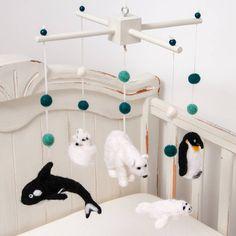 Needle Felt Polar Cot Mobile £210 www.notonthehighstreet.com