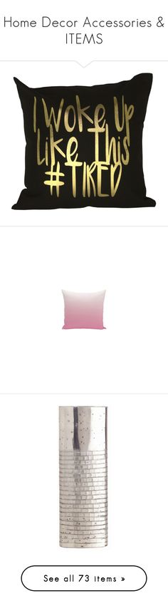 """""""Home Decor Accessories & ITEMS"""" by divine-designer ❤ liked on Polyvore featuring home, home decor, throw pillows, black accent pillows, gold throw pillows, black home decor, black toss pillows, gold accent pillows, vases and arteriors"""