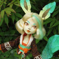 Leafeon Pokemon Eeveelution Custom OOAK doll by Dollightful