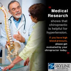 """Medical Research shows that Chiropractic is helpful for Hypertension.  If you have high blood pressure, please get evaluated by your chiropractor today.""  http://www.skylinechiro.com Dr. Anthony Silva Skyline Health Group 818-922-7755  Youtube: http://www.youtube.com/skylinehealthgroup Instagram: http://instagram.com/skylinehealthgroup  #vannuyschiropractor #quiropracticoenlosangeles"